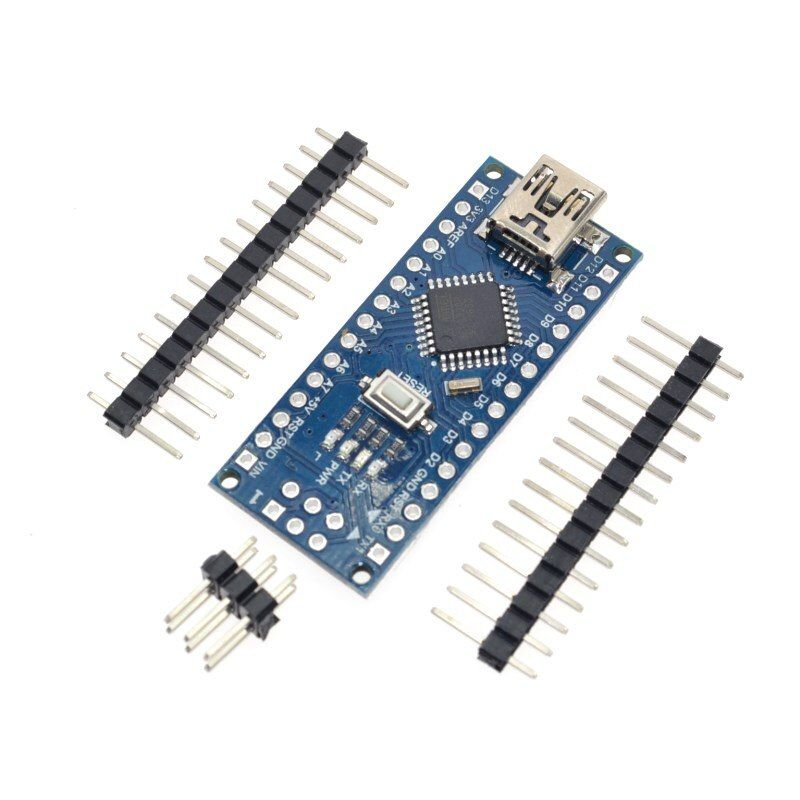 10PCS Promotion Funduino Nano 3.0 Atmega328 Controller Compatible Board for Arduino Module PCB Development Board without USB