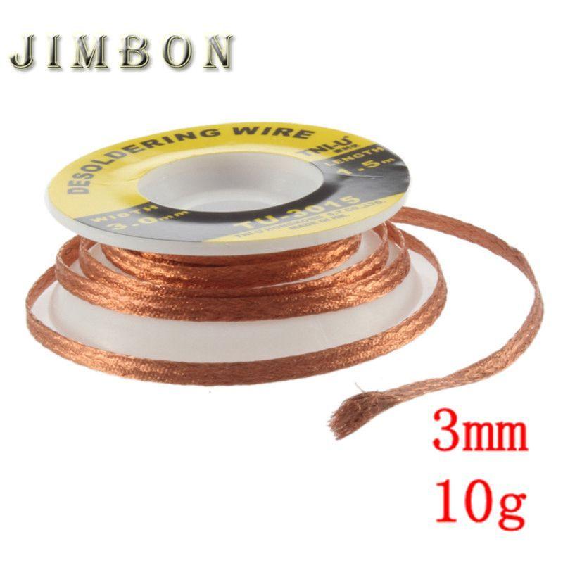 JimBon 1pc 3mm Security 5 ft. 3mm  Desoldering Braid Solder Remover Wick BGA Desoldering Wire Bra Worldwide