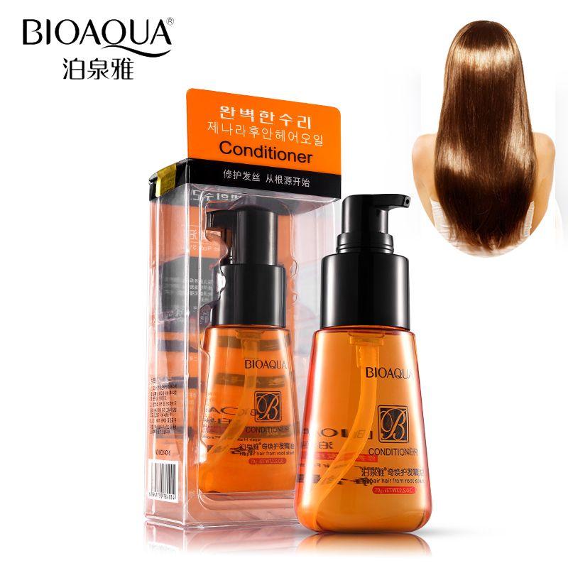 70 ml BIOAQUA Marocain huile d'argan pure Cheveux huile essentielle Pour Crépus Cheveux De Kératine Sec Réparation Soin Des Cheveux Cheveux et Cuir Chevelu Traitements Huile