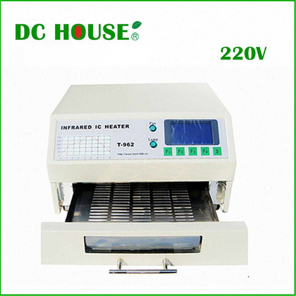 Ue Stock T-962 220 V four de recharge de bureau infrarouge IC chauffage Machine à souder 800 W 180x235mm T962 pour reprise BGA SMD SMT