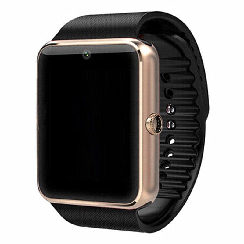 Bluetooth Montre Intelligente GT08 Pour Apple iphone IOS Android Téléphone Poignet Supporte la Synchronisation horloge intelligente Carte Sim PK DZ09 /GV08S/U8