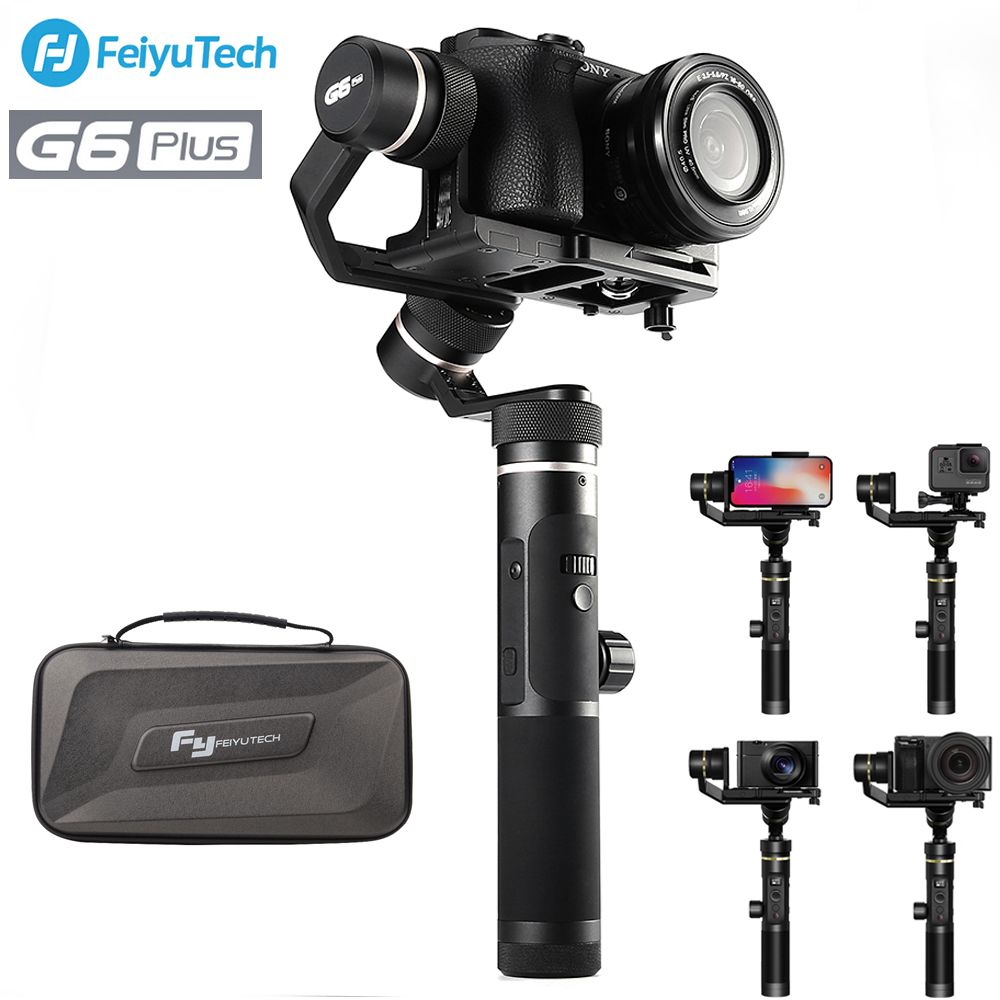 FeiyuTech Feiyu G6 Plus 3-Axis Handheld Gimbal Stabilizer for Mirrorless Camera Pocket Camera GoPro Smartphone Payload 800g