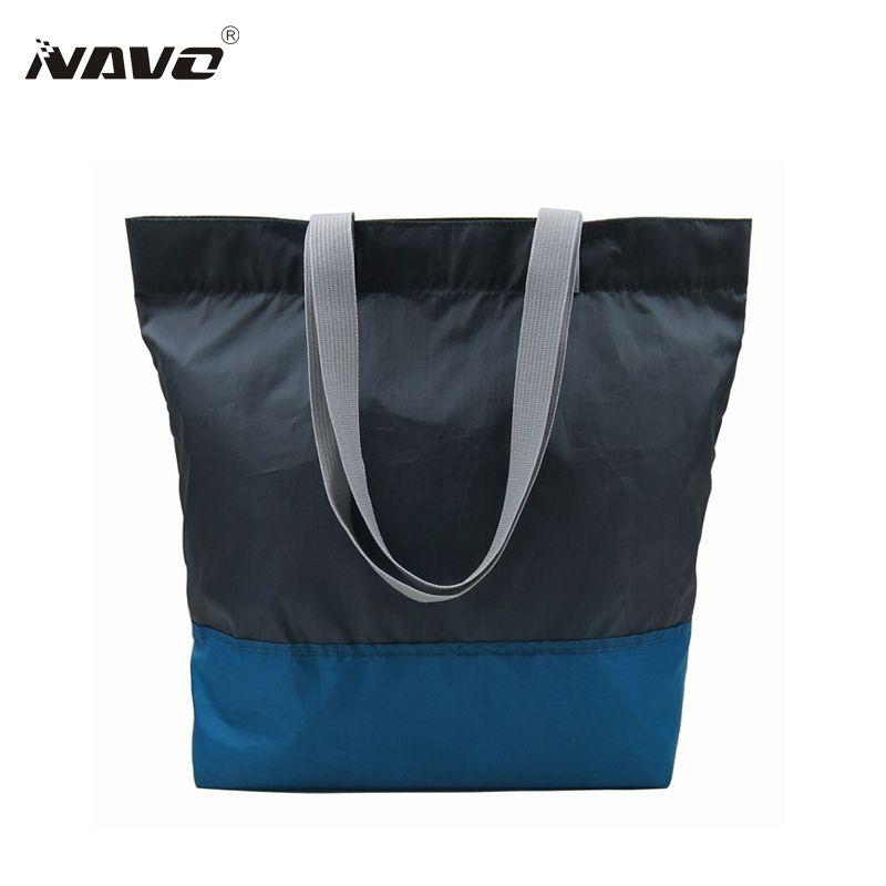 1 Unidades de bolsas de tela PET reciclado eco bolso de compras reutilizable Plegable de Comestibles Saco opvouwbare tas plegable asas de las compras