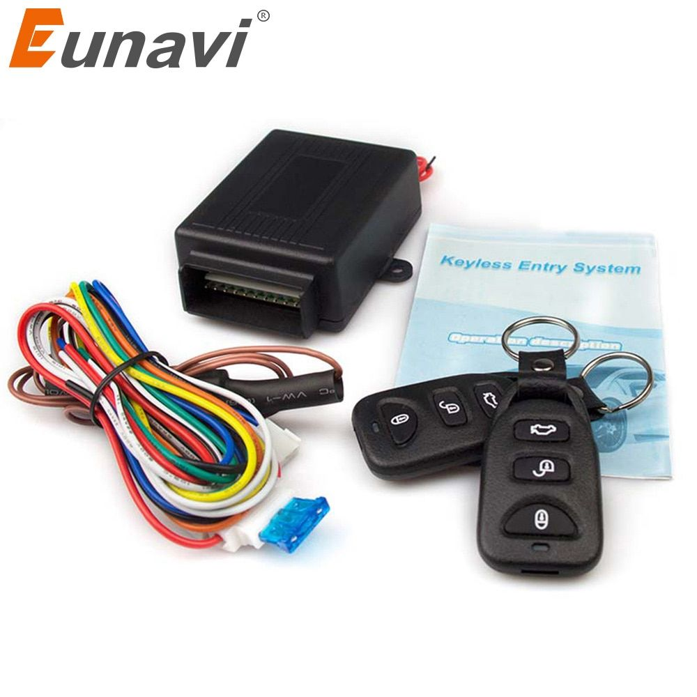 Eunavi New Universal Car Remote Central Kit Door Lock Locking Vehicle Keyless Entry System hot selling