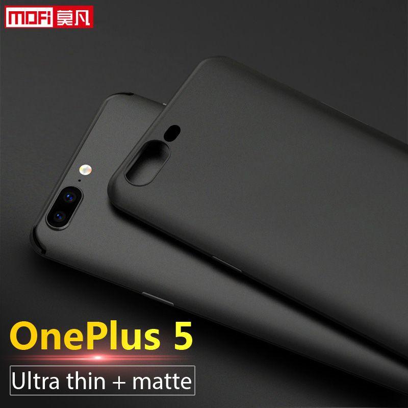 OnePlus 5 Cas Couverture OnePlus 5 Cas Silicone Givré Mofi Ultra mince Un Plus A5000 Capas Tpu Souple Retour Coque OnePlus 5 cas