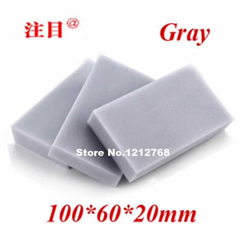 200pcs Magic Cleaning Sponge Gray100*60*20mm Melamine Sponge Eraser Multi-functional