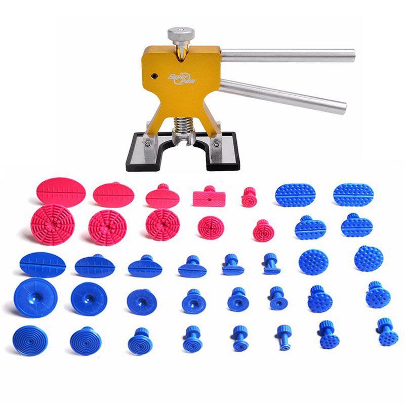 Meilleur Outils PDR Débosselage sans peinture Outils Débosselage Dent Puller Tabs Dent Lifter Main Tool Set PDR Boîte À Outils Ferramentas