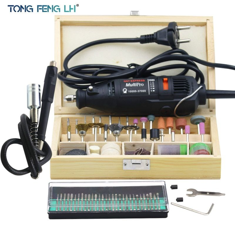 Mini perceuse électrique perceuse à vitesse Variable outil rotatif avec 135 pièces outils électriques accessoires pour Dremel Mini meuleuse arbre Flexible