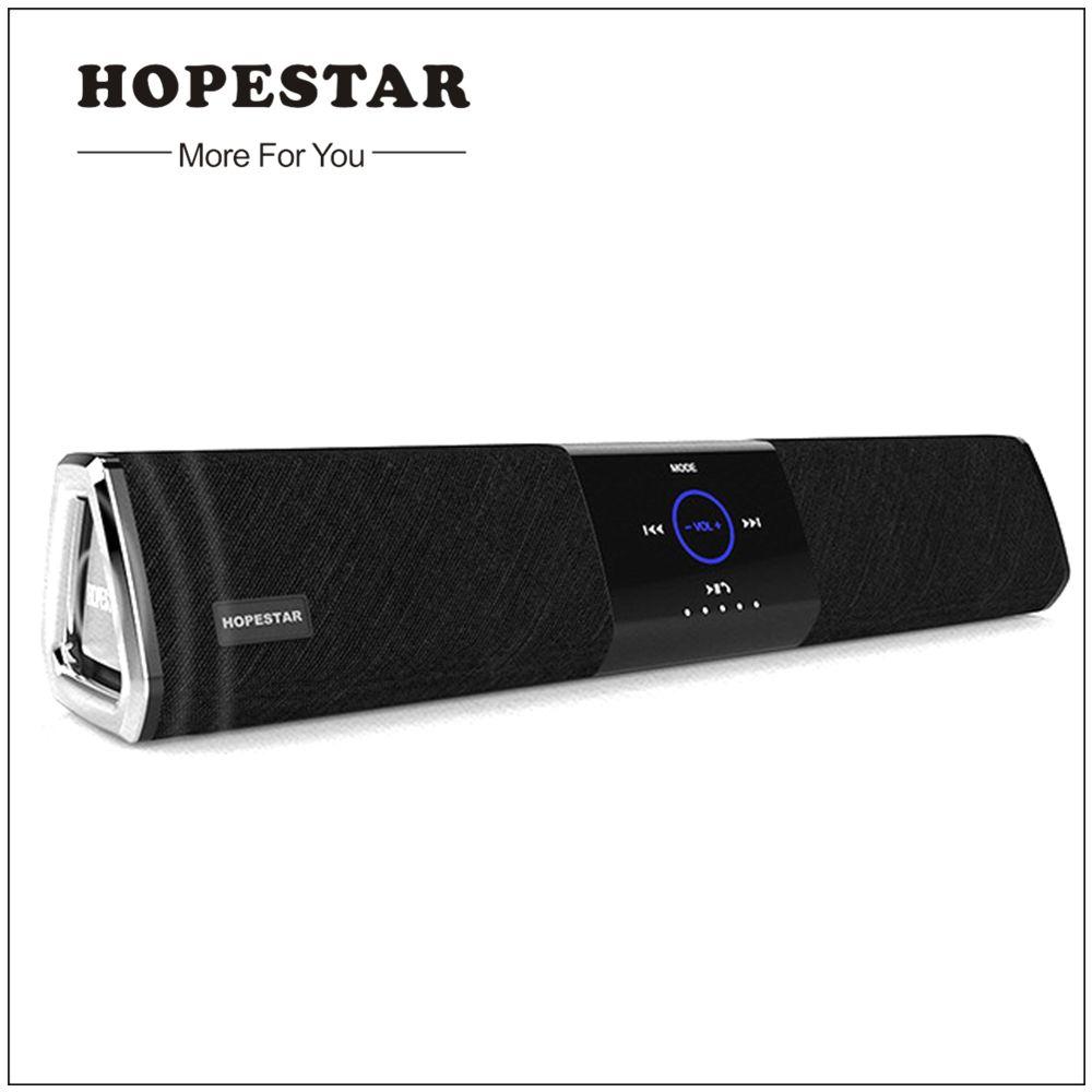 Hopestar Wireless Home Theater Bluetooth Speaker Column Soundbar Dual Subwoofer Loudspeaker 3D stereo Surround Charge for TV PC