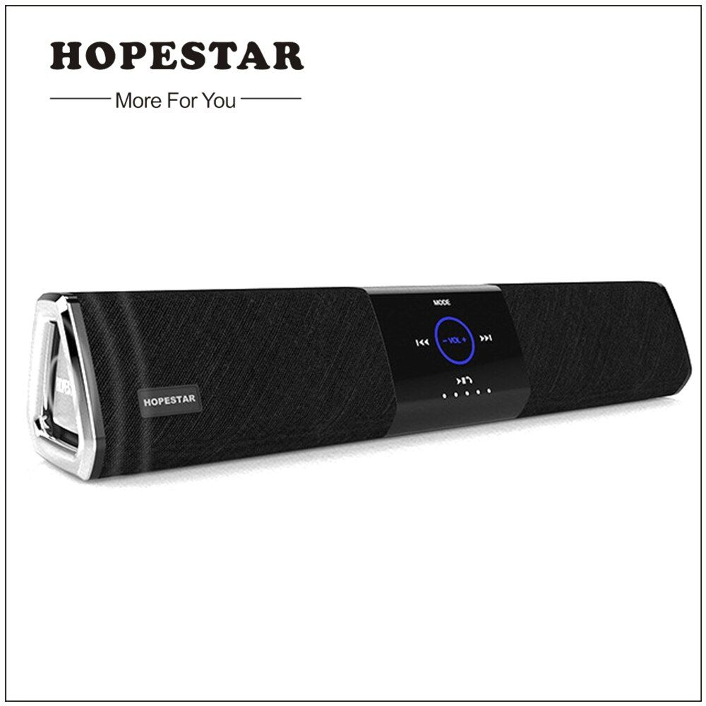 Hopestar Wireless Home Theater Bluetooth Speaker Column Soundbar Dual Subwoofer Loudspeaker 3D stereo Surround Charge for TV PC