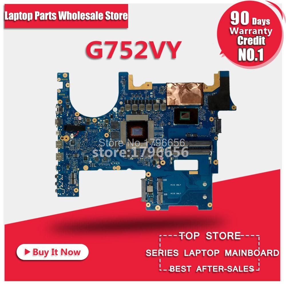 original G752VY /I7-6700HQ/AS GTX980M/4GB laptop motherboard for ASUS G752V motherboard tested laptop Motherboard mainboard