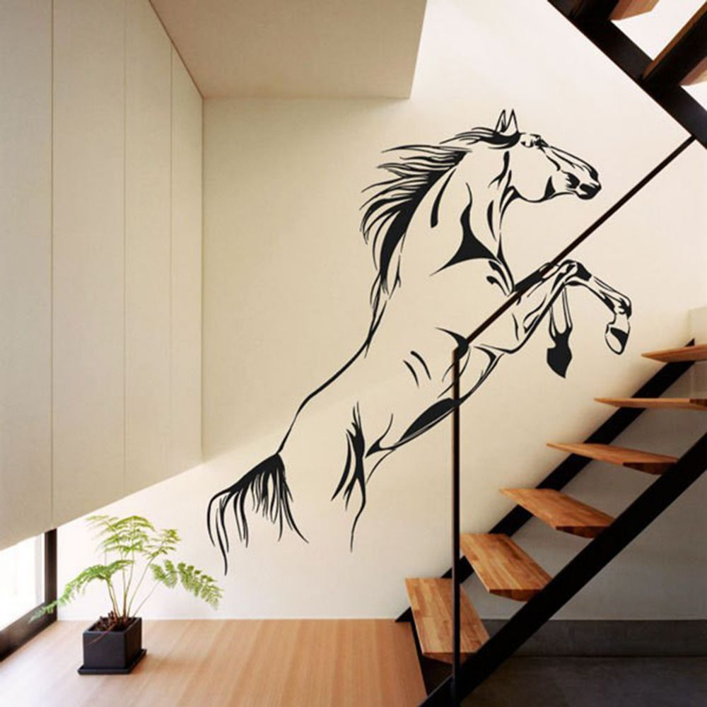 Horse Jumping Leap Freedom Animal Home Bedroom Wall Stickers Decals Vinyl Decor