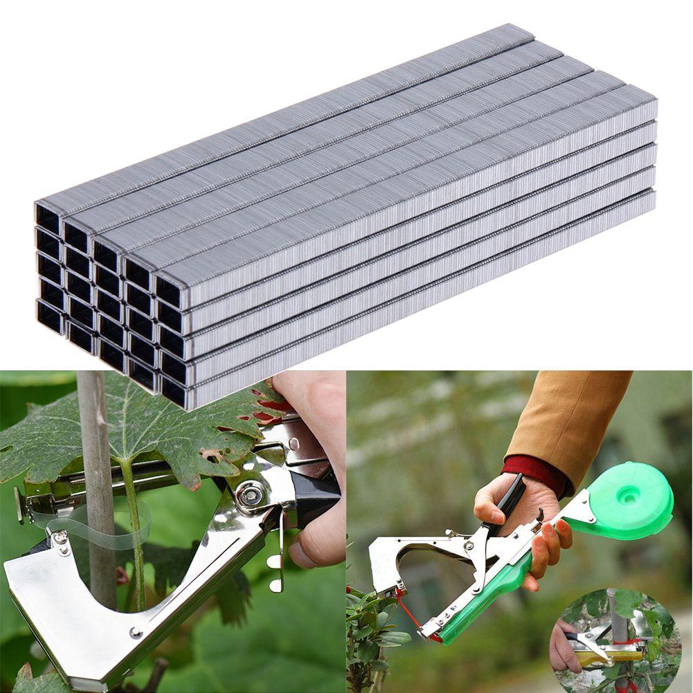 10000 stücke Zweig Binder Nail Band Werkzeug für Binden Pfropfen Band Nägel Garten Werkzeuge Garten Bonsai Elektroschere Agrafes Heftklammern