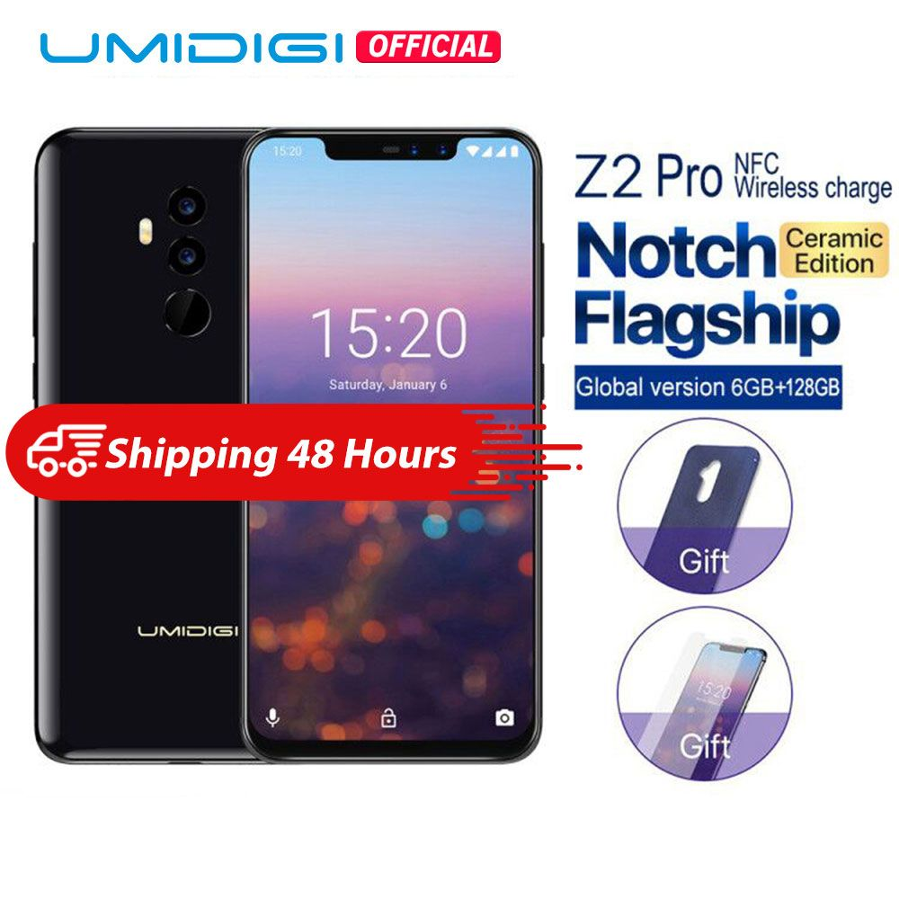 UMIDIGI Z2 Pro Keramik Edition 6,2 Full screen smartphone Android 8.1 Helio P60 6 GB + 128 GB 16MP 4G LTE NFC Drahtlose handy