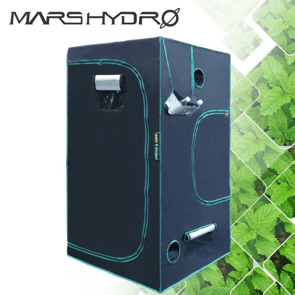 1680D MarsHydro LED Grow Tent 3'3''x3'3''x5'11''(100x100x180cm)Hydroponic Water-proof Indoor Planting Tent Green house system