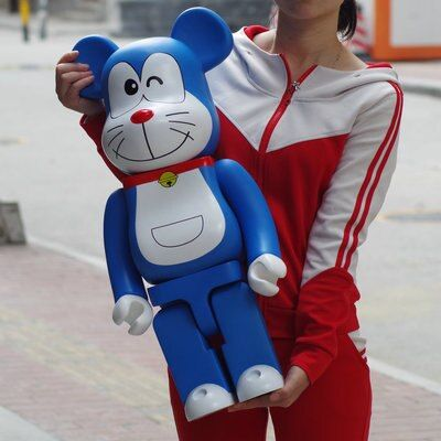 70cm1000% Bearbrick Be@rbrick Doraemon PVC Action Figure Collectible Model Toy Decoration Lovely and interesting toys