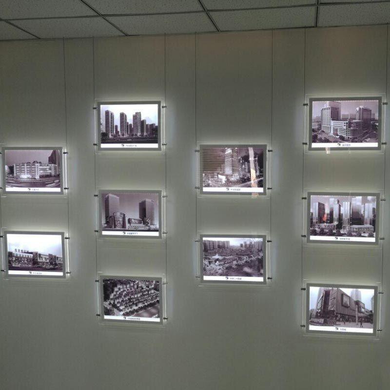 (12 einheiten/Pack) A3 Doppel Seite Backlit LED Fenster & Wand Displays, schaufenster Display Werbung Zeichen Leuchten für Immobilien Agenten