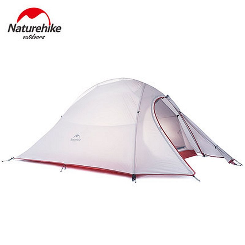 1.2KG Naturehike Tent 20D Silicone Fabric Ultralight 2 Person Double Layers Aluminum Rod Camping Tent 3 Season With 2 Person Mat