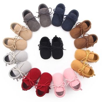 2019 Baby Boys Girls Moccasins Moccs Shoes First Walkers Bebe Fringe Soft Soled Non-slip Footwear PU Leather Crib Shoes