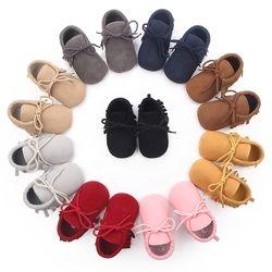 2019 Bayi Anak Laki-laki Anak Perempuan Sepatu Moccs Sepatu Pertama Walkers BEBE Fringe Bersol Lembut Non-Slip Sepatu Kulit PU Tempat Tidur sepatu