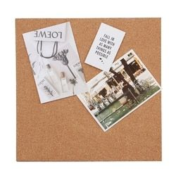 B-SKIN Quartet Cork Board With Adhesive Backing Bulletin Board Message Board For Office
