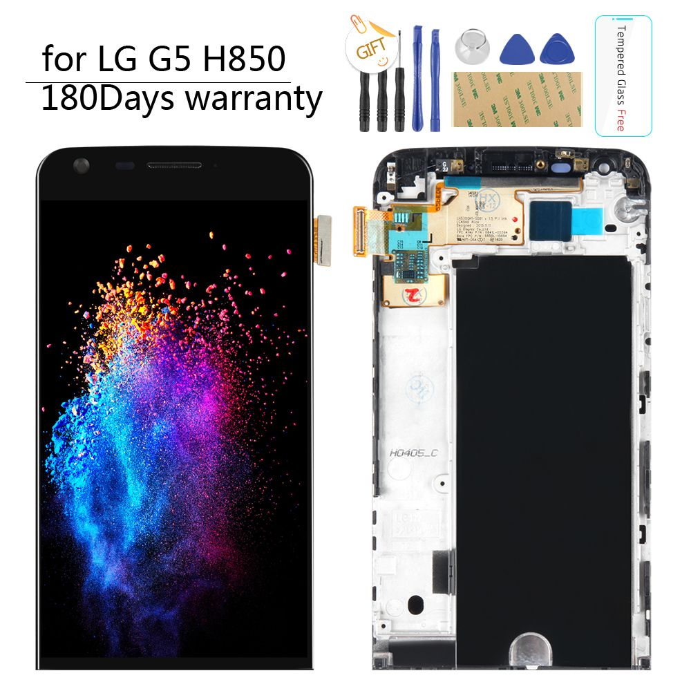 LCD for LG G5 LCD Original 5.3 Display For LG G5 LCD H850 H840 H860 Touch Screen Digitizer Assembly WITH FRAME Replacement