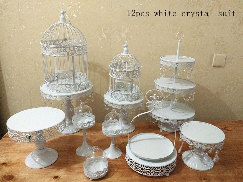 Customized by customer requirements 12Gold Wedding Dessert Tray Cake Stand Cupcake Pan Party Supply 12PCS / Set ,
