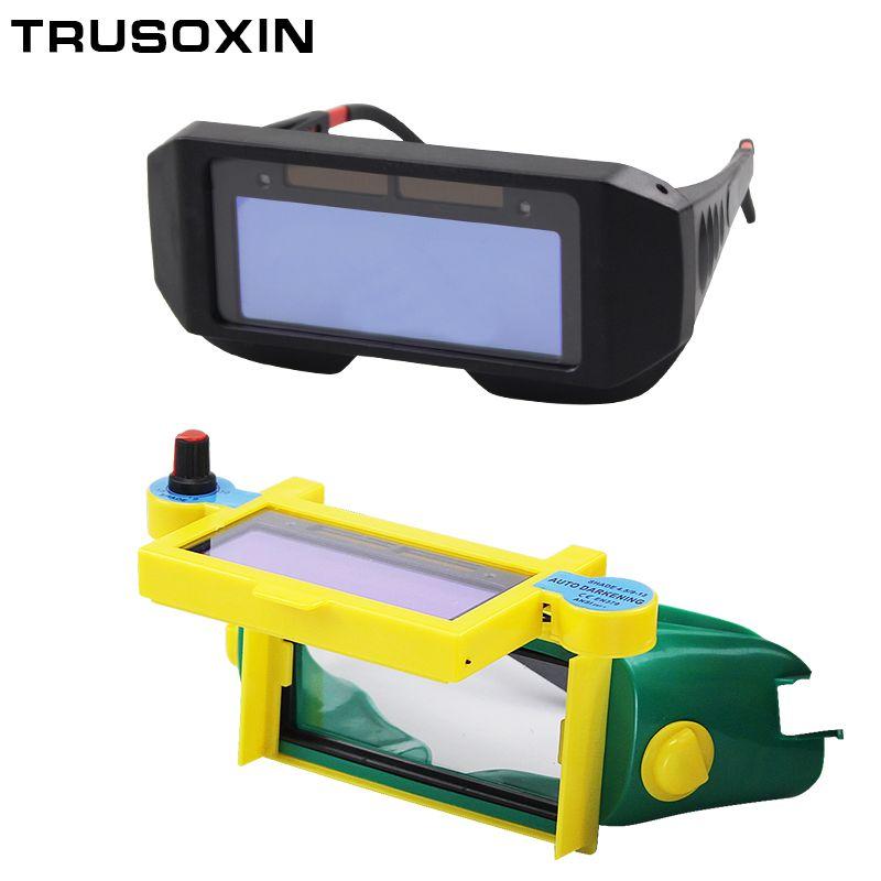 DIN9-DIN13 ombre sombre solaire Auto assombrissement yeux frais masque de soudage casque masque masque/Patch/lunettes pour soudeur en été