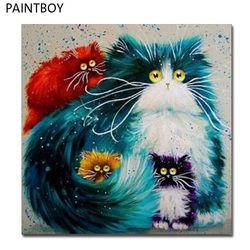 PAINTBOY картина современного Подставил Картинки Живопись по номерам DIY картина маслом на холсте Home Decor Белый Кот GX3805 40*50 см