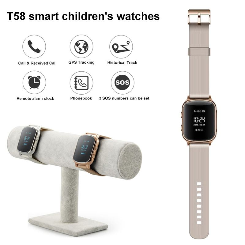 T58 Smart Watch Kids Children Smartwatch GPS Watch SOS GPS Tracker Phone Call For Android IOS reloj gps PK Q90 Q50 Watches