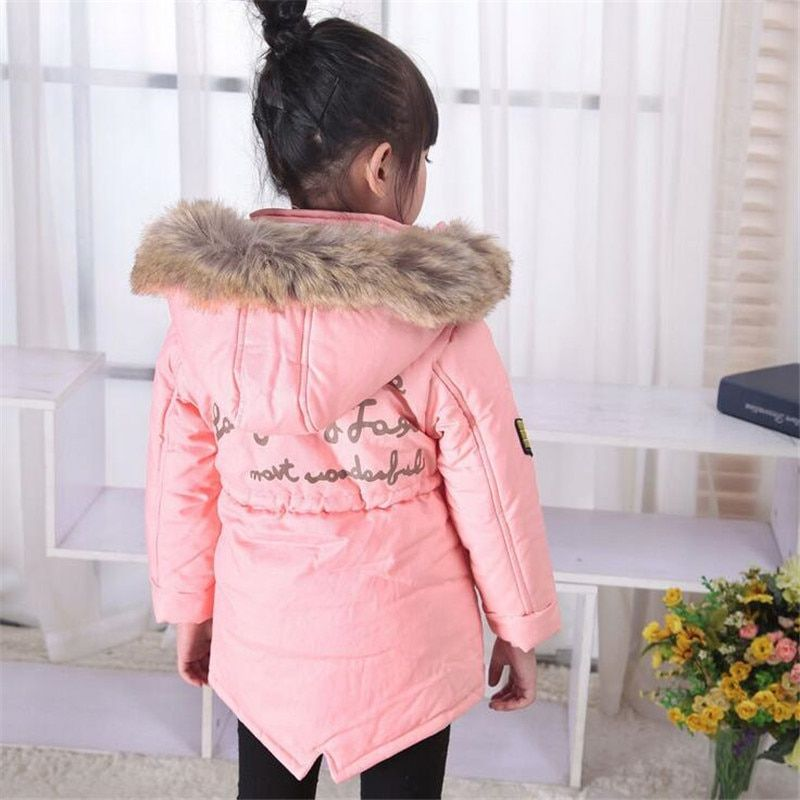 2018 Warm Thick Girls Winter Coat Brand Quality Children's Parkas Winter Jackets and Coats For Girls Clothing