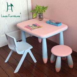 Louis Fashion Children Tables Desk Chair Baby Learning Strengthening Suit