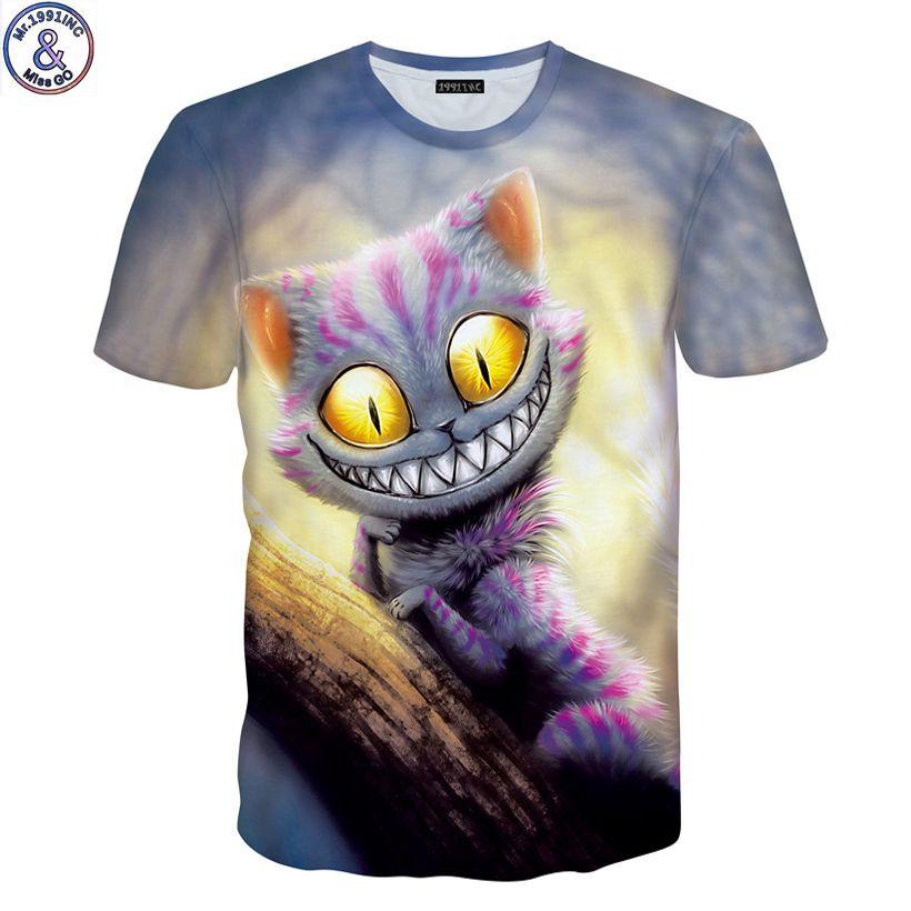 Mr.1991 marque nouvelle Divers chat et sortes chat 3D imprimé t-shirt pour garçons ou filles 6-20years adolescents grands enfants t shirt enfants A44
