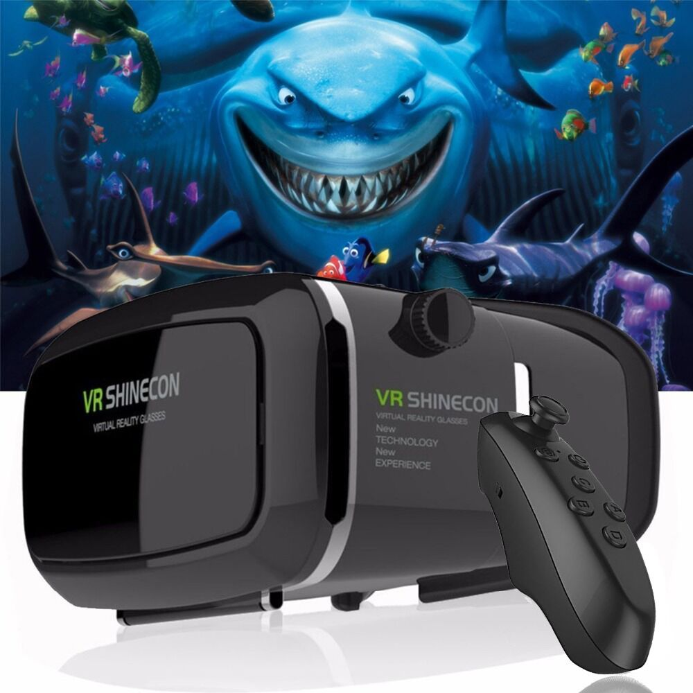 VR Shinecon Virtual Reality 3D Glasses google cardboard 2.0 Pro Version VR Glasses VR 2.0 Movie For 4.5-6.0' Smartphone