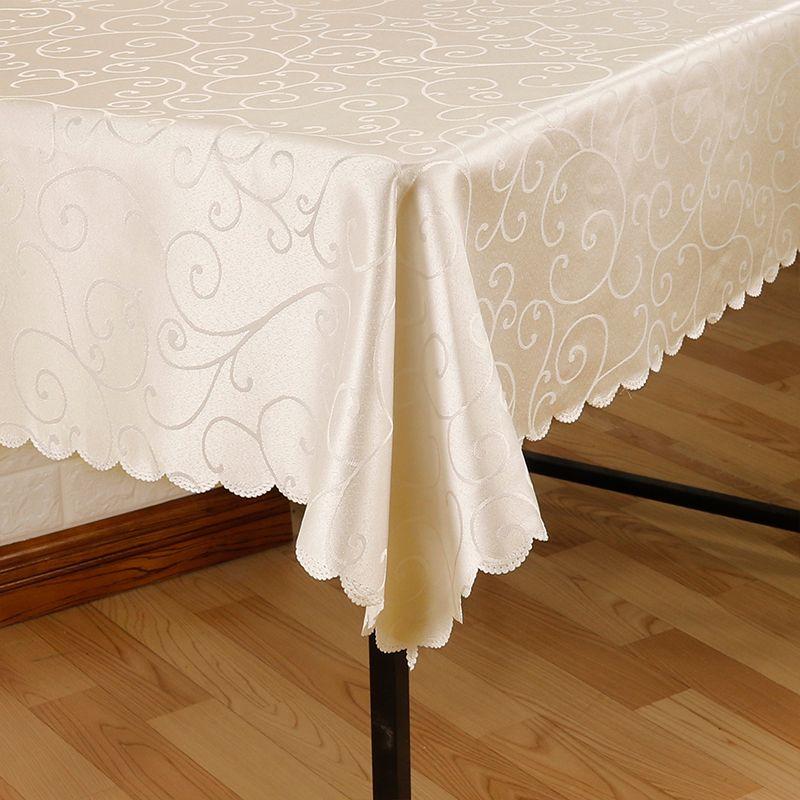 Toutes les tailles Jacquard imprimé fleur nappe motif à carreaux nappe rectangulaire ronde banquet mariage fête hôtel décoration