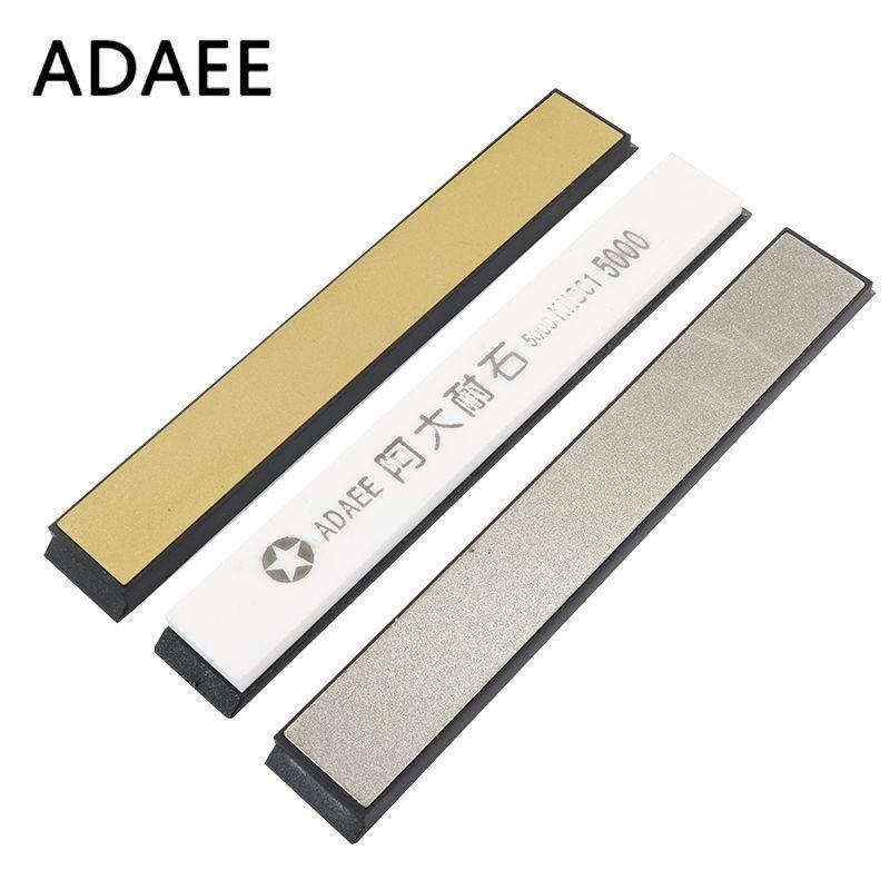 ADAEE 3pcs/Set Titanium Diamond Sharpening Stones For Kitchen Knife Sharpener Professional Sharpening System 240# 800# 5000# H5