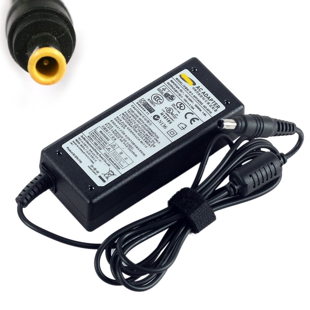 19 V 3.16A 60 W AC alimentation adaptateur chargeur pour Samsung R Q NC RV RC SF série AD-6019 ordinateur portable