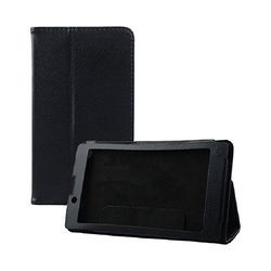 Untuk 7 Inch Lenovo IdeaTab A7-30 A3300 Tablet PU Leather Stand Case Cover (Hitam)