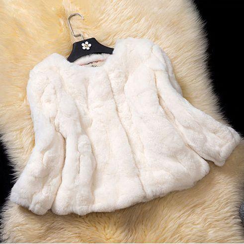 female natural genuine short style rex rabbit fur beige color women coat spring autumn winter hot keep warm style jacket CW3252