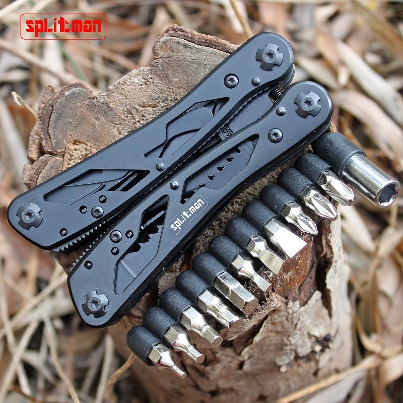 G202B Multi Tools Folding Plier Fishing Camping Outdoor <font><b>Survival</b></font> EDC Gear Multitool Pocket Knife Plier Scissors Screwdriver Bits