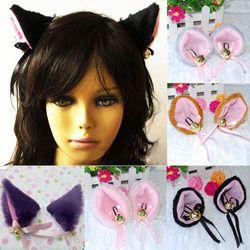 Новинка, 6 цветов, модные рождественские вечерние костюмы на Хэллоуин, аниме, косплей, костюм торба, кошачьи лисичьи уши Вечерние