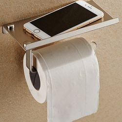 Ванная комната хранения нержавеющая сталь туалетная рулонная бумага держатель для хранения ткани Коробки Мобильный Телефон Полка вешалка ...