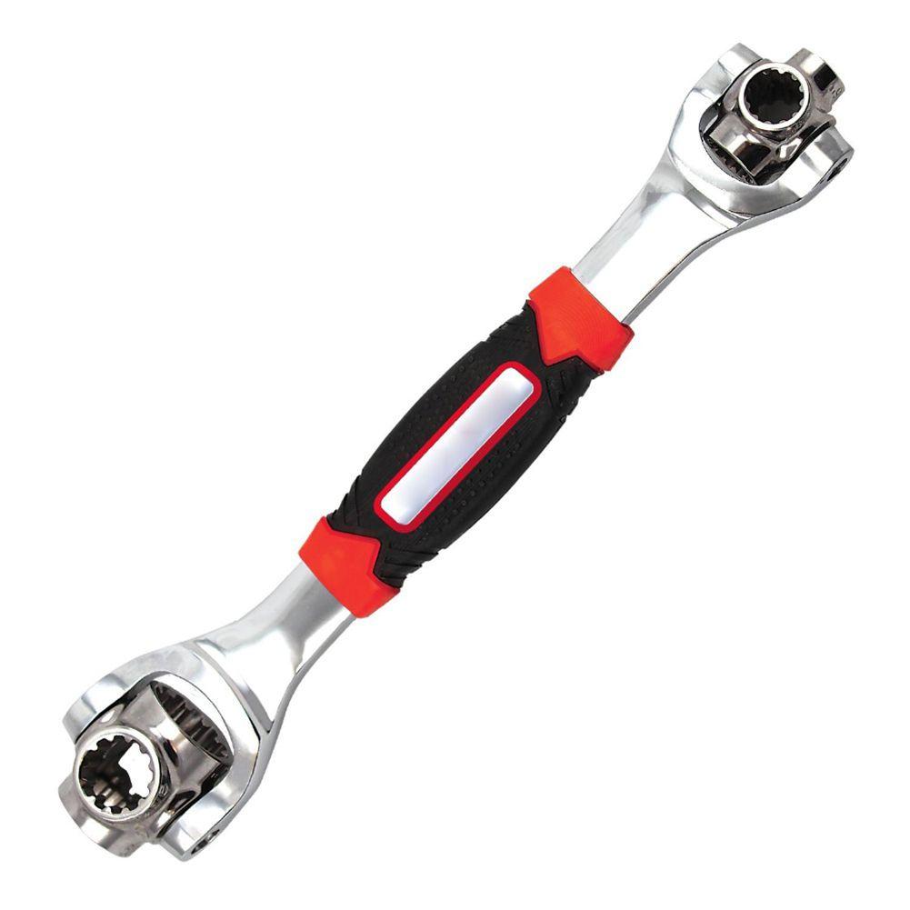 Clé Tiger 48 en 1 outils douille fonctionne avec des boulons cannelés Torx 360 degrés 6 points, 12 points, Torx, clé universelle carrée