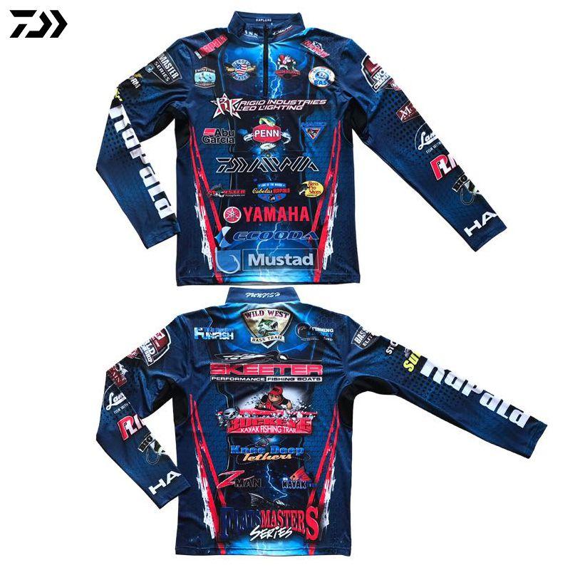 Vêtements de pêche DAIWA manteau d'été à manches longues Sensation de froid fermetures à glissière protection solaire Anti-UV séchage rapide respirant chemises de pêche