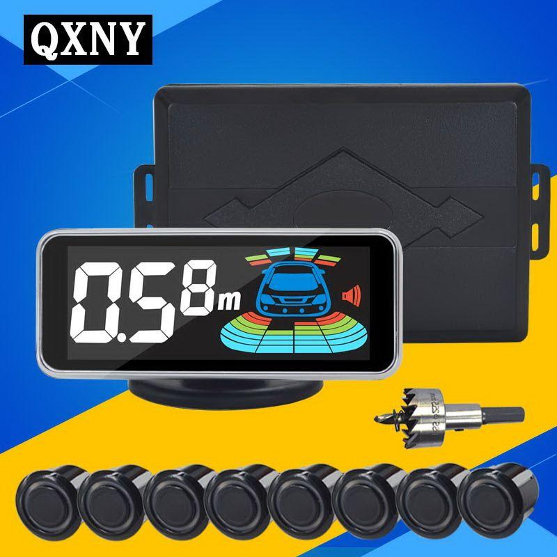 QXNY 8 sensors Car Parking Sensor Automobile Reversing Radar parking car detector parking assistance  parking radar Reverse