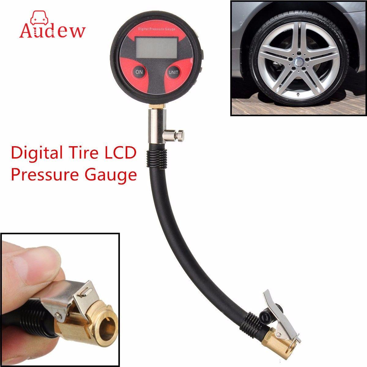 New 0-200PSI Metal Digital Tire LCD Manometer Air Pressure Gauge PSI BAR KPA