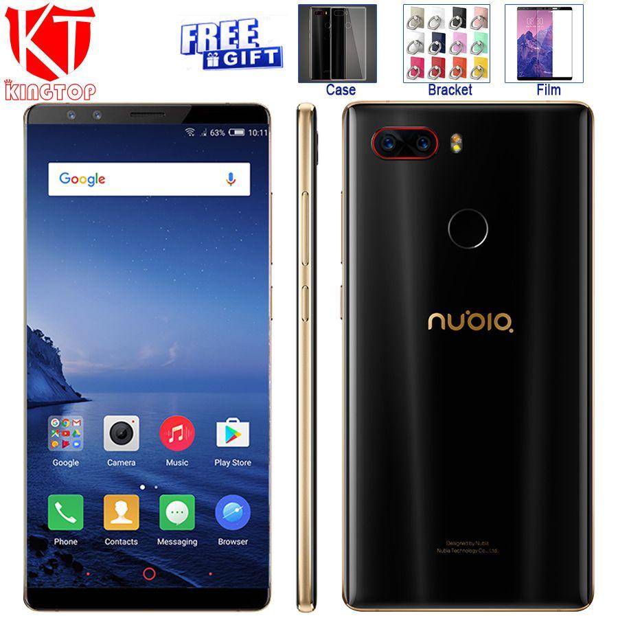 Ursprüngliche ZTE Nubia Z17S Full Screen Handy Snapdragon 835 6 GB RAM 64 GB ROM 5,73 zoll Android 7.1 Dual Vorne Hinten Kameras