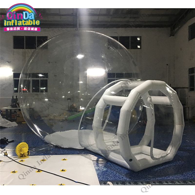 10 minutes set up flame retardant PVC clear transparent inflatable bubble tent for outdoor camping