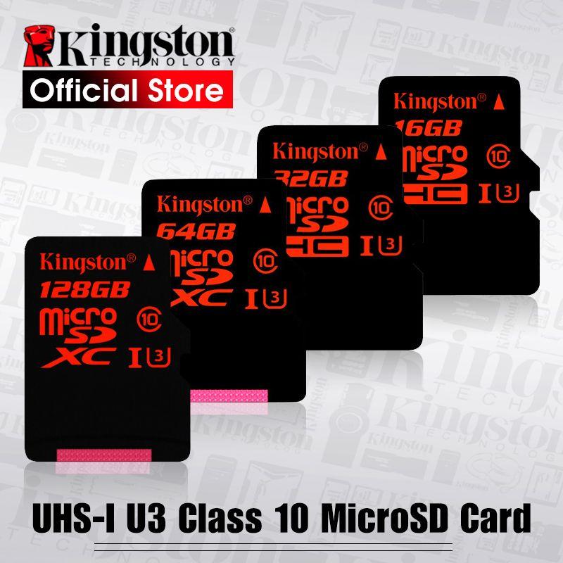 Kingston Micro SD Carte 32 gb microSDHC UHS-I U3 Mémoire Cartes 64 gb Classe 10 90 mb/s Microsd TF Carte 128 gb Soutien HD 3D 4 k Vidéo