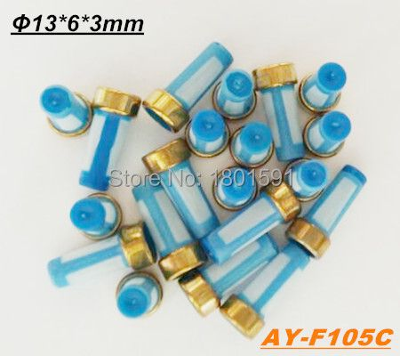 Free Shipping 1000pieces fuel injector filter for Corsa , Vectra, S10 injector (13*6*3mm,AY-F105C)